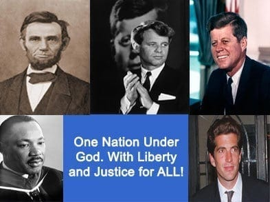 The father JFK done in front of the father Bush, the son JFK JR. done in front of the son Bush. confirmation or coincidence?