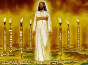 Each is a characteristic of G-d. Jesus was given all seven of the lamps he was light of the world.